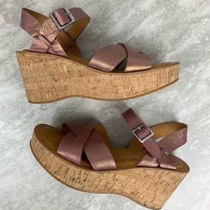 Kork-Ease Size 9 Leather Platform Sandals